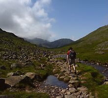 Heading for Scafell Pike by Kat Simmons