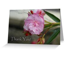 Oleander flower Thank You card Greeting Card