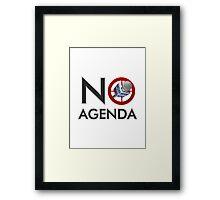 No Agenda Logo T - Women's Fitted Scoop Neck - The No Agenda Show Framed Print