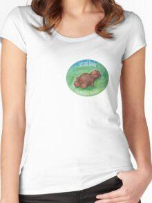 smaller logo for Monica Batiste Women's Fitted Scoop T-Shirt