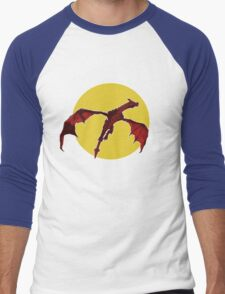 There Be Red Dragons  Men's Baseball ¾ T-Shirt