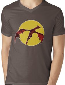 There Be Red Dragons  Mens V-Neck T-Shirt