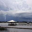 Storm over Clay Lake by Rosalie Scanlon