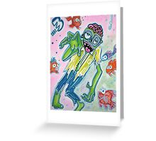 My Pet Zombie 3 - Fish Bait Greeting Card