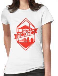 Tokyo Landmark (Red) Womens Fitted T-Shirt