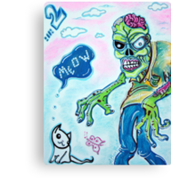 My Pet Zombie 2 - Here Kitty Kitty Canvas Print