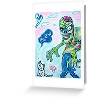 My Pet Zombie 2 - Here Kitty Kitty Greeting Card