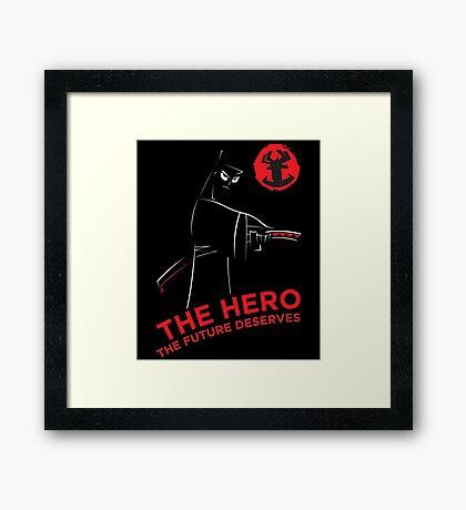 Samurai Hero Framed Print