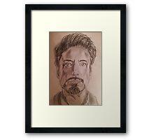 Robert Downey Jr. Drawing Framed Print