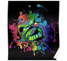 VIBRANT ABSTRACT ZOMBIE - large design Poster