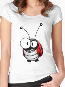 Cartoon ladybug Women's Fitted Scoop T-Shirt