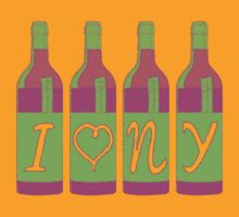 I Heart New York Wine by LicensedThreads