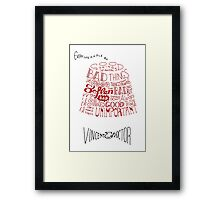 Doctor Who Fez & Bowtie from Vincent & the Doctor Framed Print