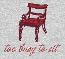 Too busy to sit - orange Kids Tee