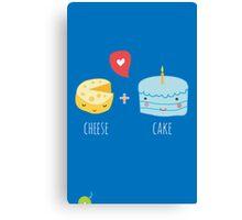 Cheese-cake Love Canvas Print