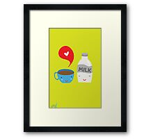 Coffee loves milk Framed Print