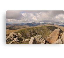 Distant Scafell Range Cumbria Canvas Print
