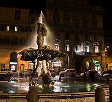 Rome's Fabulous Fountains - Fontana del Tritone by Georgia Mizuleva