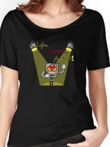 Undertale - Mettaton, Lights Camera Action! Women's Relaxed Fit T-Shirt