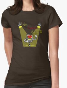 Undertale - Mettaton, Lights Camera Action! Womens Fitted T-Shirt