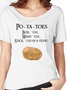 Po-ta-toes Women's Relaxed Fit T-Shirt
