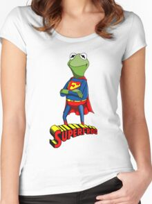 Kermit the Superman Women's Fitted Scoop T-Shirt