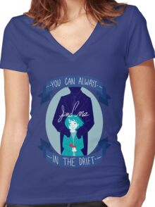 You Can Always Find Me In The Drift Women's Fitted V-Neck T-Shirt