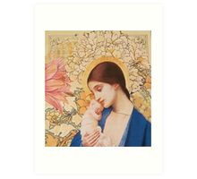 Madonna of The Blossoms Art Print