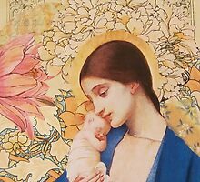 Madonna of The Blossoms by Kanchan Mahon