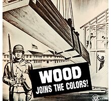 Wood Joins The Colors -- Army WWII by warishellstore