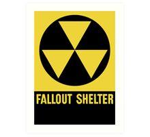 Fallout Shelter Sign Art Print