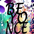 Beyonce Musical Paint Splatter by AstroNance