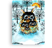 snow owls Canvas Print