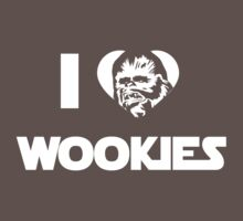 I <3 Wookies Graphic - White ink Baby Tee