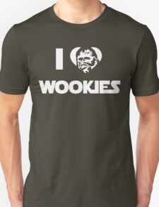 I <3 Wookies Graphic - White ink T-Shirt