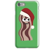 Cute and Funny Santa Bacon iPhone Case/Skin