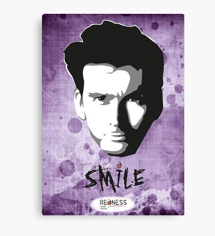 Kilgrave: Smile (black on light colors) Canvas Print