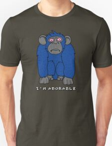 Adorable Monkey - blue gray and pink T-Shirt