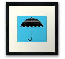 Umbrella illusion dots Framed Print
