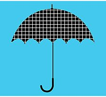 Umbrella illusion dots Photographic Print