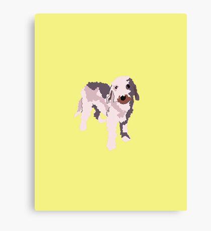 Yellow Puppy Canvas Print