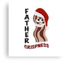 Father Crispness Cute and Funny Santa Bacon Canvas Print