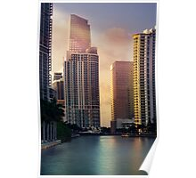 Miami River at Brickell Key Poster