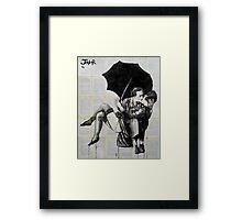 vintage kiss Framed Print