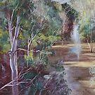 The Traawool Creek in Flood by Lynda Robinson