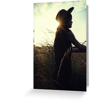The Silhouetted cowgirl Greeting Card