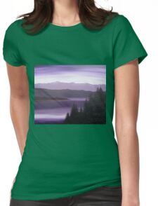 Purple Wilderness Womens Fitted T-Shirt