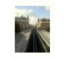 Subway in paris Art Print