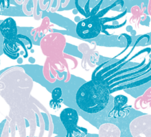 octopus party Sticker
