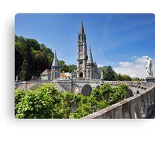 Rosary Basilica, Lourdes, France Canvas Print